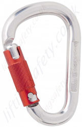 "Miller ""ML03"" Aluminium Triple Action Twistlock Karabiner. Breaking Strength 28kN. (Pack x 10). Gate Opening - 23mm"