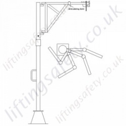 Articulating Davit Arm - Various Ranges Available.