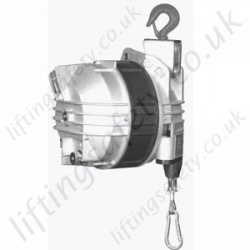 LiftingSafety Spring Balancer. Optional Locking Device - Adjustable, 15kg To 180kg, Cable Length 2.5m or 3m (30 Options)