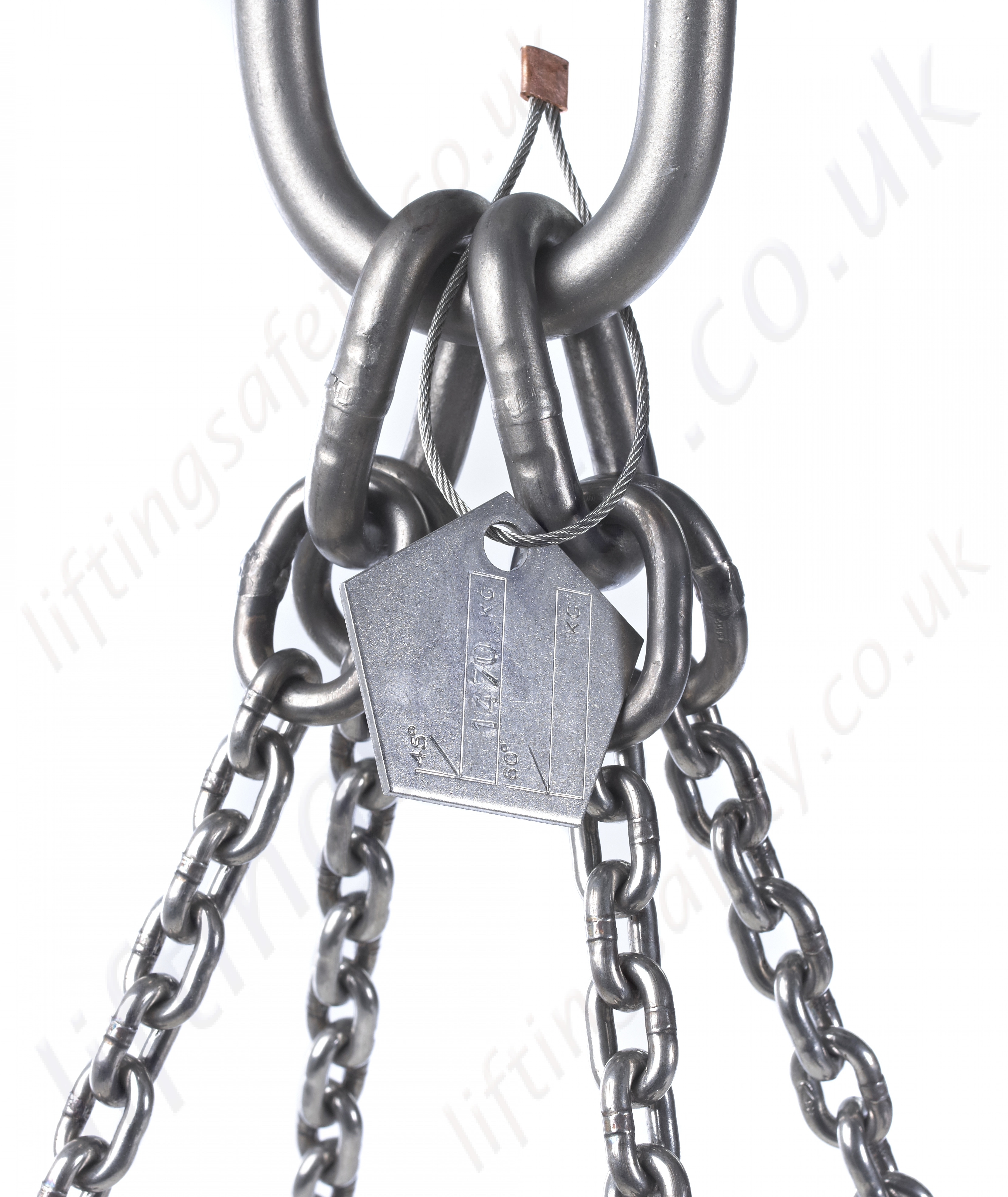 Stainless Steel Lifting Chain Sling - Mechanically Assembled. Chain ...