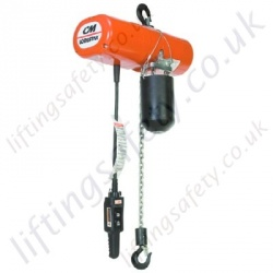 Yale Columbus McKinnon (CM) Wind Turbine Chain Hoist, Many Voltage Options - 250kg, 500kg or 1000kg