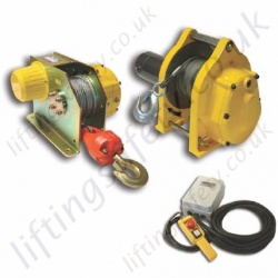 LiftingSafety 110v or 240v DC Wire Rope Lifting Hoist - Range from 120kg, 300kg or 500kg Options. (Lifting capacities)
