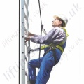 "Tractel ""Tractelift"" Electric Climbing Assistant. Balances the Climbers Weight and Provides Fall protection."