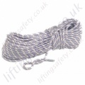 "Miller ""Low Stretch"" 16 Core, High Strength Rope with 32mm Braid Sheave with Plain ends - 11mm Diameter x 50m or 200 Metre"