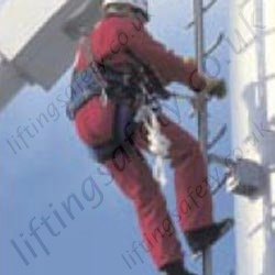 "Soll ""GlideLoc"" Rigid Rail Permanent Installation Vertical Fall Arrest System for Ladder."