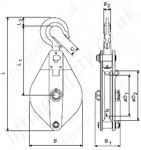 Pulley Block Dimensions
