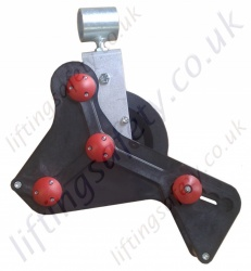 "LiftingSafety ""Safety Pulley"" Gin Wheel Pulley with Automatic Brake - 30m or 60m rope available."
