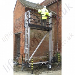 Liftingsafety Manually Hand Winch Raised Access Platform