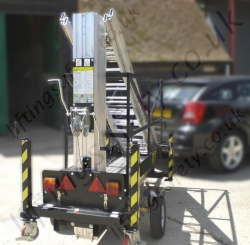 Man-Lift Tower can be towed by any car or van