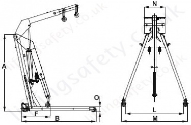 Yale EC Engine Crane Dimensions