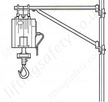 wire rope hoist swivelling jib arm