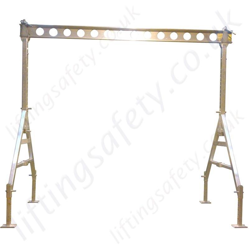 Mobile Gantry Crane Uk : Portable aluminium gantry crane with adjustable feet