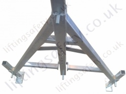 Top Side View of the Gantry Legs