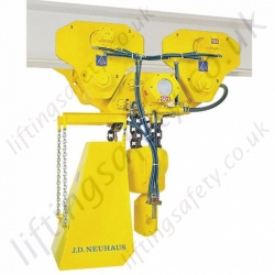 JDN Monorail Air Hoist - Range from 1000kg to 100,000kg