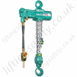 JDN Profi TI Hydraulic Chain Hoist, Hook Suspended - Range from 3000kg to 100,000kg