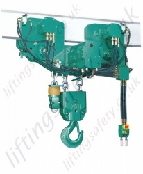 JDN Profi EH Series Hydraulic Chain Hoist With Power Travel Trolley - Range from 20,000kg to 100,000kg