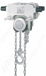 Yale ITP CR/SS Anti Corrosion Push Travel Hand Chain Hoist - Range from 500kg to 4000kg