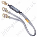 "SALA ""WrapBax"" Twin Leg 100% tie-off ""Tie-Back"" Fall Arrest  Lanyard - 1.8 Metre"