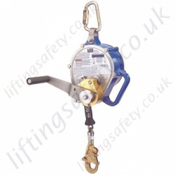 "SALA ""Sealed-Blok""  Self retracting Fall Arrest Retriever, Inertia Reel Rescue Block with Retrieval Handle. Cable Lanyard - 9 Metre"