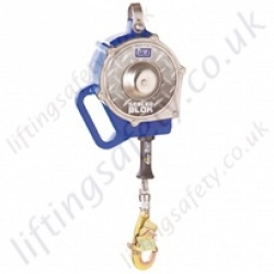 "SALA ""Sealed-Blok"" Fall Arrest Inertia Reel Block (Fall Limiter) Galvanised or Stainless Steel Cable Lanyard with Swivel Snap Hook - 9 Metre"