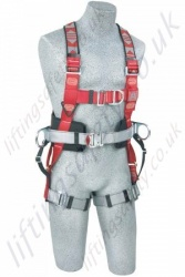 "Protecta ""Flexa"" 2 Point Elastic Fall Arrest Harness with Rear and Front 'D' Rings and Work Positioning Belt"