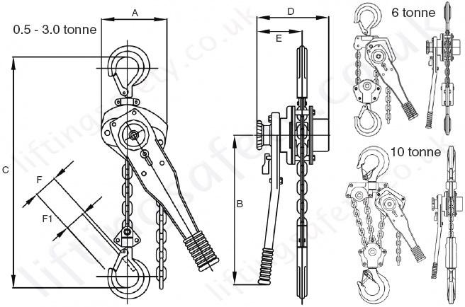 tiger pressed steel body quality lever hoist