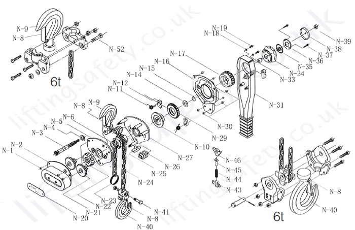 tiger_lever_hoist_part_diagram yale hoist wiring diagrams yale pallet jack hydraulic pump rebuild yale hoist wiring diagram at bayanpartner.co