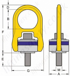 Yoke Unc Hoist Ring Dimensions