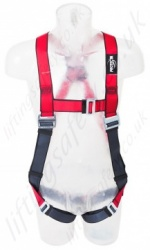 "Protecta ""Pro"" Single Point Fall Arrest Harness with Rear 'D' Ring, Additional Shoulder Adjustment, Size: S to XL"