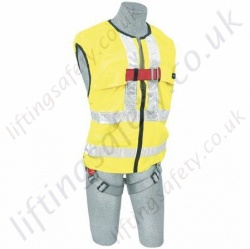 "Protecta AB101HV ""Pro 2"" Hi-Vis Vest 1 Point Fall Arrest Harness With Rear 'D' Ring"