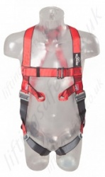 "Protecta ""Pro"" 2 Point Fall Arrest Harness with Rear 'D' Ring and Front Webbing Loops, Size: S to XL"