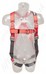 "Protecta ""Pro"" 4 Point Fall Arrest Harness with Rear and Front  'D' Ring & Additional 2 x Shouler 'D's', Size: S to XL"