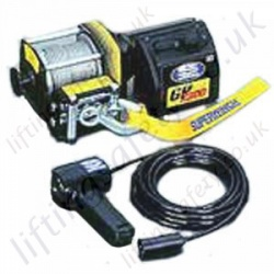 Superwinch 12v Vehicle Recovery Wire Rope Winch for Pulling Applications - Range from 820kg, 1040kg or 1360kg