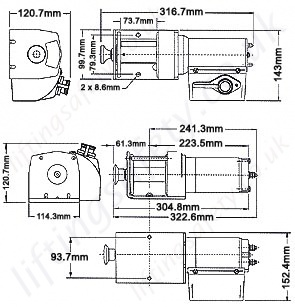 Superwinch gp Series Dimensions