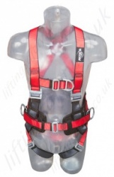 "Protecta ""Pro 2"" Fall Arrest Harness with Belt, Front and Rear 'D' Rings and Work Positioning Belt, Size: S to XL"