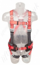 "Protecta ""Pro"" Fall Arrest Harness with Belt, Front, Rear and Shoulder 'D' Rings, Size: S to XL"