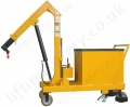 MANUAL - Pivoting Arm Counterbalance Workshop Floor Crane With Hydraulic Ram Lifting, Hand Lift & Travel, Many Options