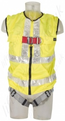 "Protecta ""Pro "" Hi-Vis Vest 2 Point Fall Arrest Harness with Front and Rear 'D', Size: S to XL"