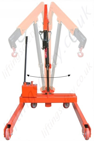 Safety Lifting Arms : Manual or powered heavy duty parallel leg workshop floor