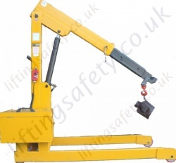 Powered Lift Fixed Leg Floor Crane