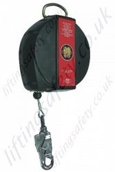 "Protecta ""JRG"" Fall Arrest Inertia Reel Block (Fall Limiter) Galvanised or Stainless Steel Cable Lanyard with Swivel Snap Hook - Range from 6 - 60m"