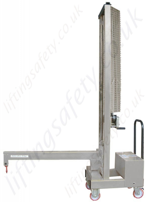 Steel Lift Arm : Manual or powered carriage mounted fork truck lifting