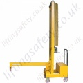 MANUAL OR POWERED - Carriage Mounted (Fork Truck Lifting Action) Counterbalanced Workshop Floor Crane, Hand or Powered Lift & Travel. Many options.