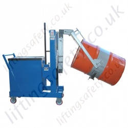 Manual or Powered Workshop Drum Lifting, Turning, Handling Machine, Counterbalanced Design To Suit All Drum Types. Hand or Powered Lift & Travel.