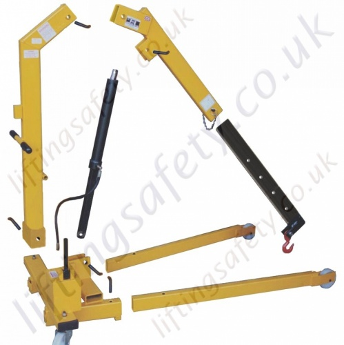 Fully Broken Down Folding Floor Crane