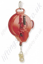 "Protecta ""AD525""  Self retracting Fall Arrest Retriever, Inertia Reel Rescue Block with Retrieveal Handle. Galv Cable Lanyard - 25 Metre"
