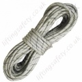 "Protecta ""AL0110T"" White Static Braided Polyamide Rope (Black Wear Indicators) Terminations, Plain Ends - 11mm Diameter x 20 Metre (Or Custom Length)"