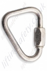"Protecta ""AJ508"" Zinc Plated Steel Delta Quick Link. Breaking Strength 27kN. H 73mm x W 56mm x 8mm Thick - Gate Opening 10mm"
