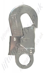 "Protecta ""AJ565"" Double Action Snap Hook from Galv Steel. Breaking Strength 23kN. H 133mm, W 61mm. - Gate Opening 18mm"