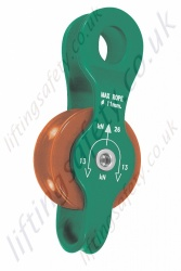 "Protecta ""AG571"" Single Polyamide Height Safety Pulley with ""Fixed"" Aluminium Side Plates for Synthetic Rope to Maximum Diameter 11mm"